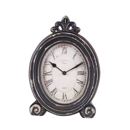 Oval Decorative Vintage Style Desk Clock (Style Clock Table French Wood)