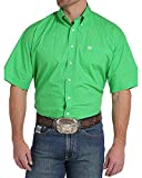 Cinch Men's Classic Fit Short Sleeve Button One Open Pocket Print Shirt, Green Monkey, L