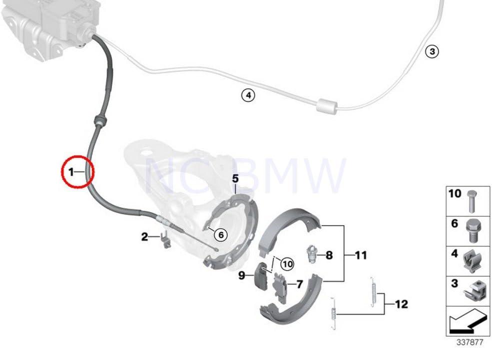 BMW Genuine Left Parking Brake Bowden Cable