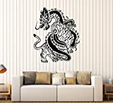 great tiger wall decals Vinyl Wall Decal Chinese Dragon Tiger Fight China Asian Art Stickers (307ig) Matte Black