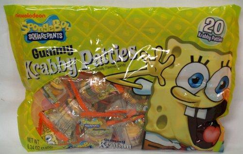 Spongebob Gummy Krabby Patties, 20 Patties Included, Health Care Stuffs