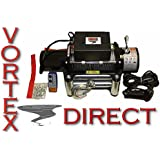 NEW Vortex 8000 LB Pound Recovery Winch Bonus Package! 2 remotes 4 JEEP, TRUCK OR TRAILER (FAST SHIPPING - 1 TO 4 BUSINESS DAY DELIVERY)