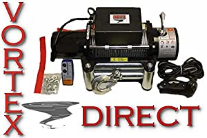 amazon com new vortex 12000 lb pound recovery winch bonus package new vortex 12000 lb pound recovery winch bonus package 2 remotes fast shipping 1 to 4 business day delivery