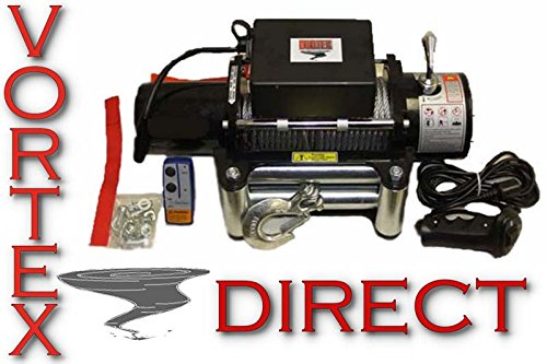 NEW VORTEX 5000 LB Pound Recovery Winch Bonus Package JEEP, TRUCK, TRAILER (FAST SHIPPING - 1 TO 4 BUSINESS DAY DELIVERY)