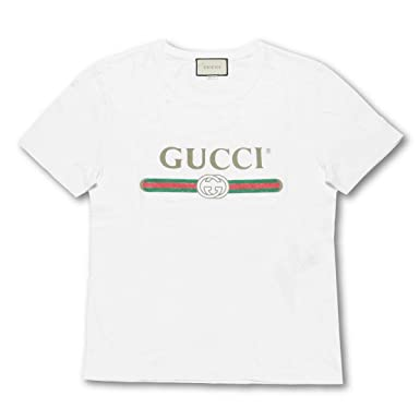 buy popular e3dee 2cb81 Amazon   (グッチ) GUCCI 半袖Tシャツ ホワイト L 440103 X3F05 ...