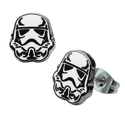 Star Wars Stormtrooper Stud Earrings: Toys & Games
