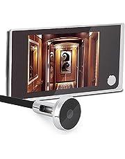 "Digital Door Viewer, 3.5"" LCD 120 Degree Peephole Viewer Photo Visual Monitoring Electronic Cat Eye Camera"
