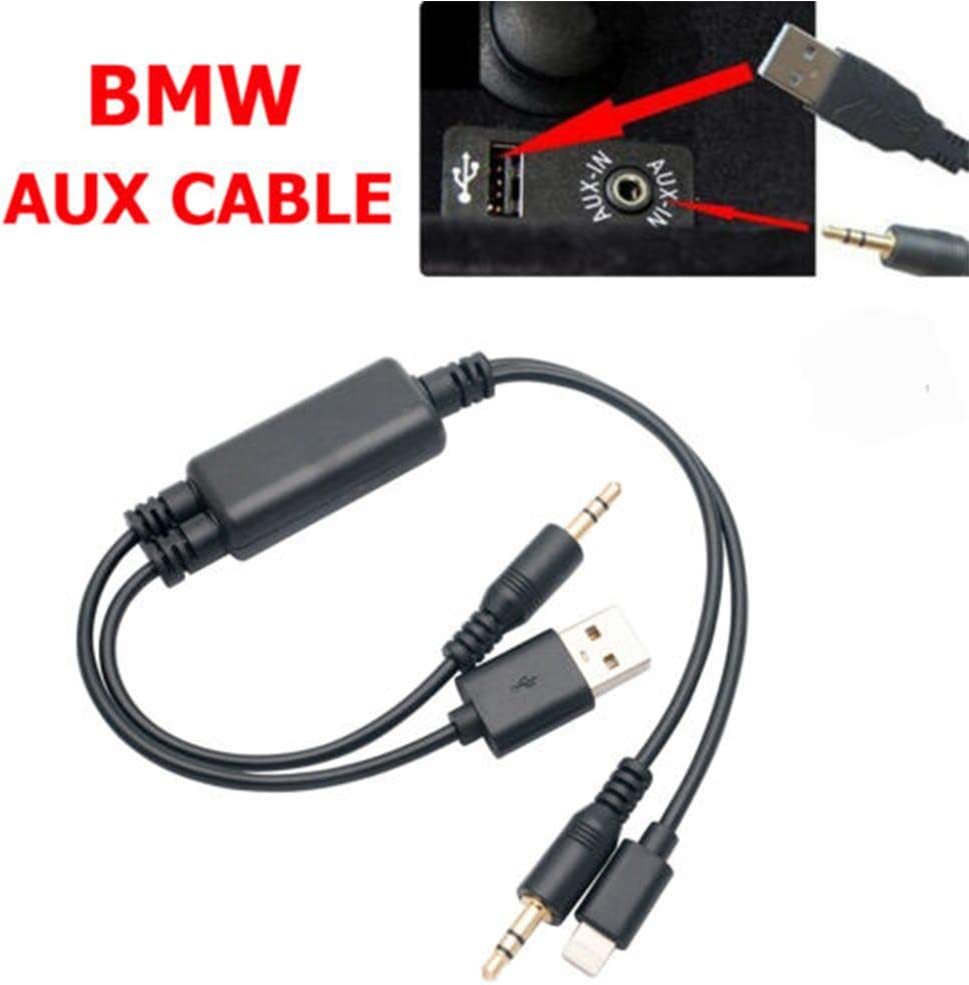 MASO C/âble USB AUX 3,5 mm pour voiture BM-W 3 Series 1 5 6 7 Series X1 X5 X6 Z4 Mini R55 R56 R57