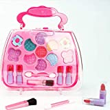 Children's Cosmetics Princess Makeup Box Set Safe Non-Toxic Girl Makeup Kit Box Eyeshadow Lips...