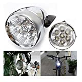 ZimoVintage Retro Bicycle Bike Front Light Lamp 7 LED Fixie Headlight with Bracket