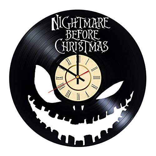 The King of Halloween Town Vinyl Clock Gift for Nightmare Before Christmas Fans Jack Skellington Wall Decor Pumpkin King Living Room Art