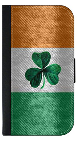 Jacks Outlet JOI_AV_IFi6 Irish Flag Ireland, Jacks Outlet PU Leather iPhone 6 Wallet Case with Closing Flip Cover and Credit Card Slots by Jacks Outlet