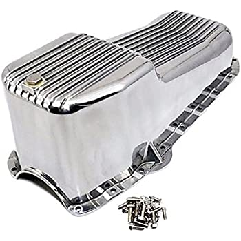 Polished Aluminum Oil Pan Passenger Side Dipstick for 86 Up SB CHEVY 1pc RMS