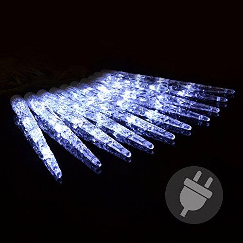 40er LED Eiszapfenkette Lichterkette weiß mit 8 Funktionen Weihnachten XMAS