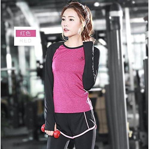Erica Femmes 2 Pièce Set Gym Fitness Chemise Top Leggings Courir Dames Sports Yoga Costume