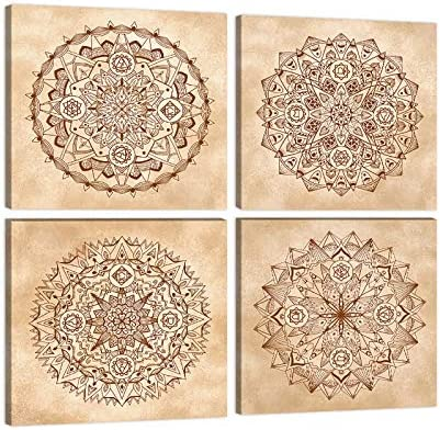 Brown Moroccan Wall Decor Canvas Art pictures paintings artwork Indian Wall Art Decor Poster Paintings Mandala Wall Art Decor Canva