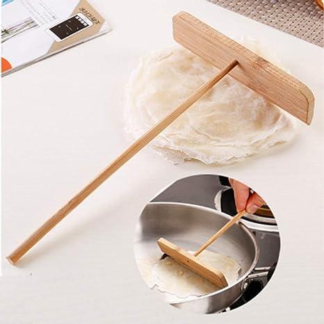 Bricolage Crepe Esparcidor Chino Crepe Tortilla Rallador de Madera Esparcidor Palo Crepe Fabricante Hogar Cocina Herramienta
