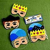 Amazing Foam Purim Masks Set of 3 - Esther, Haman & Mordechai
