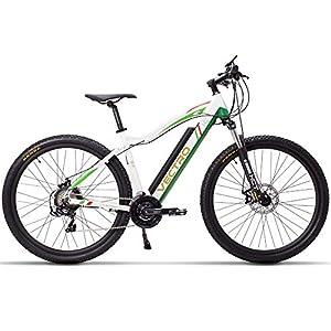 """51dWVJrfWZL. SS300 MSEBIKE 29"""" Bicicletta elettrica di Alta qualità, Mountain Bike, Potente Batteria al Litio, Pedale di Controllo a 5 Livelli, Forcella a Sospensione bloccabile"""