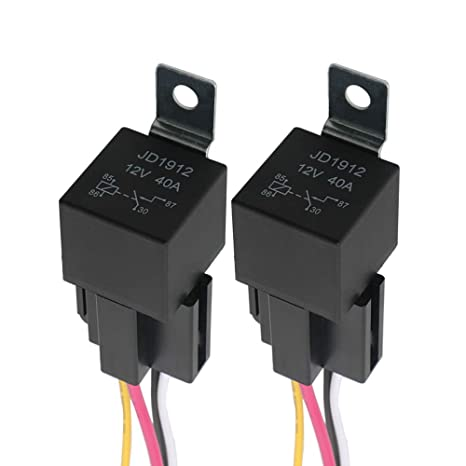 FULARR 2Pcs Professional 4 Pin Car Relay, 12V 40A SPST Auto ... on