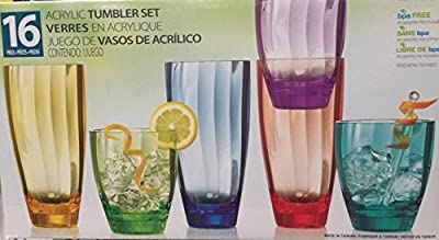 16 Piece Drinkware Tumbler Set