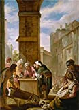 Oil Painting 'Domenico Fetti,The Pearl Of Great Price,1618-1619' 30 x 41 inch / 76 x 105 cm , on High Definition HD canvas prints is for Gifts And Bath Room, Hallway And Kids Room Decoration