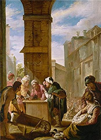 'Domenico Fetti,The Pearl Of Great Price,1618-1619' Oil Painting, 16x22 Inch / 41x56 Cm ,printed On High Quality Polyster Canvas ,this Imitations Art DecorativeCanvas Prints Is Perfectly Suitalbe For Hallway Decor And Home Decoration And (Great Lengths Anti Tap)
