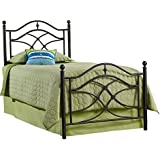 Hillsdale Furniture 1601BTWR Cole Twin Bed with Bed Frame, Black twinkle