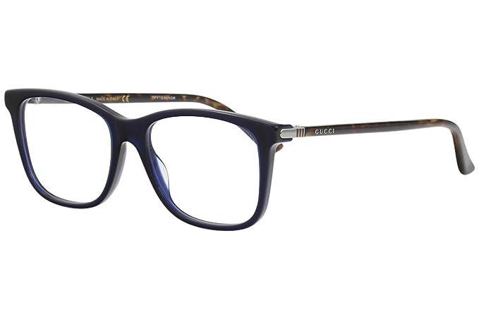 Occhiali da vista Gucci modello GG0018O colore 006 (Blu-marrone ... c3fbbf8f6d87