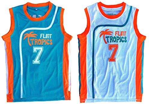 MVG ATHLETICS Coffee Black #7 Flint Tropics Semi Pro Basketball Jersey Retro Throwback S-XXL