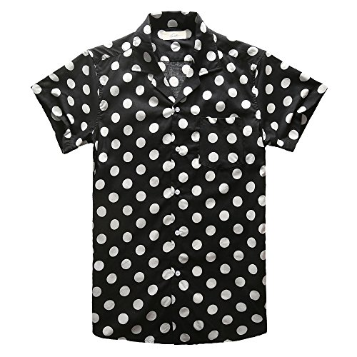 Zecmos Men's Short Sleeve Shirt Hawaiian Shirts Beach Party Holiday Black - Collar Revere