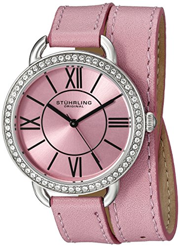 Stuhrling Original Women's 587.03 Deauville Analog Display Quartz Pink Watch