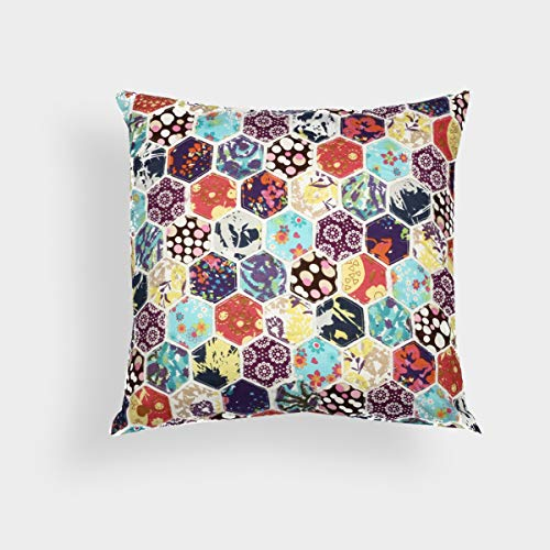 A1 Home Collections Honeycomb Patchwork 18-inch Decorative Throw Pillow,RCC-1833