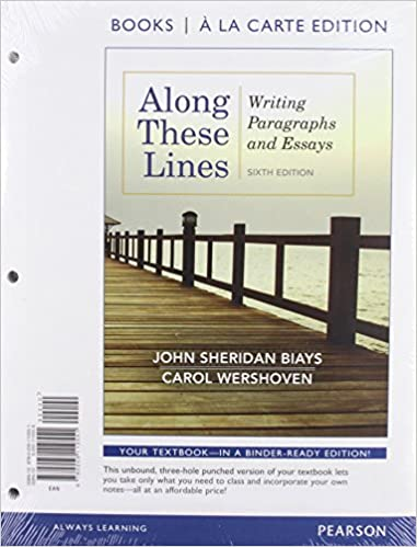 amazon com  along these lines  writing paragraphs and essays    amazon com  along these lines  writing paragraphs and essays  books a la carte plus mywritinglab   etext    access card package   th edition