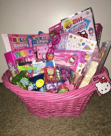 Amazon girls hello kitty filled easter basket girls easter girls hello kitty filled easter basket girls easter basket boys easter basket any negle