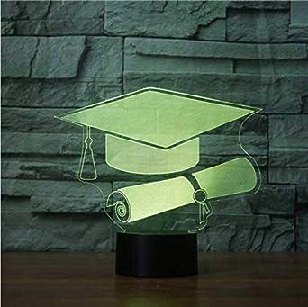 Luz Nocturna Infantil Enchufe Creative 3D Graduation Cap ...