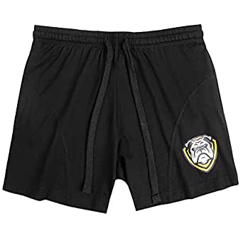 SUPERBODY Mens Casual Athletic Lightweight Fitted Shorts for Running Bodybuilding Training Workout Gym with Pockets(Black M)