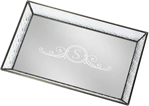 Studio Siversmiths Monogrammed Fine Crystal Covered Jewelry Box Candy Dish S