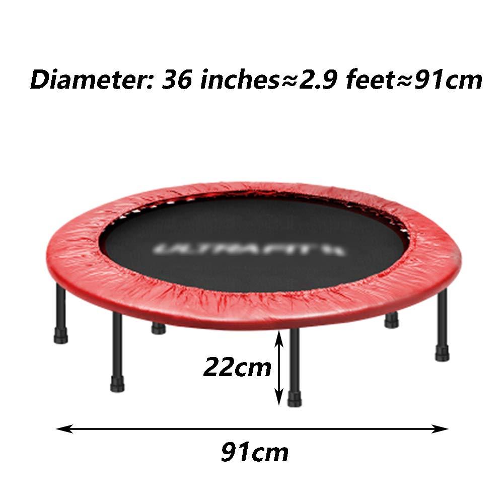 Trampolin 36 Zoll mit Sicherheitsauflage für Indoor Garden Workout Cardio-Training für Erwachsene und Kinder max