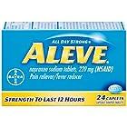Aleve Caplets, Naproxen Sodium 220 mg