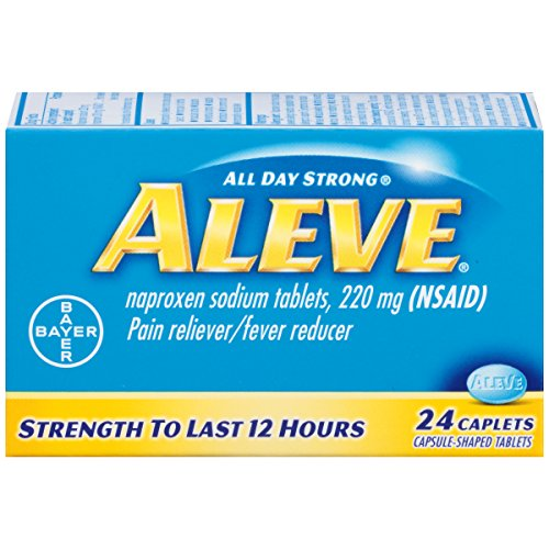 Aleve Caplets with Naproxen Sodium, 220mg (NSAID) Pain Reliever/Fever Reducer, 24 Count ()