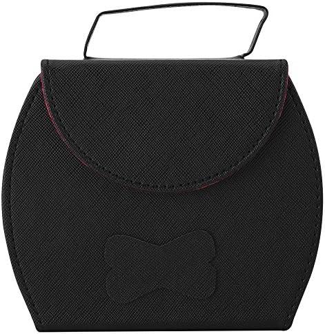 ジュエリーボックス 大容量 アクセサリーケース バッグ型 携帯用 持ち運び ハンドル付き 皮革 3段 収納力抜群 小物 宝石箱 大容量 指輪 ネックレス収納 ブラック