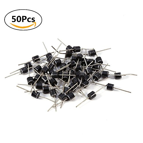 10A10 10A 1000V Voltage Axial Rectifier Diode Set One-way Electrical Conductivity 50pcs