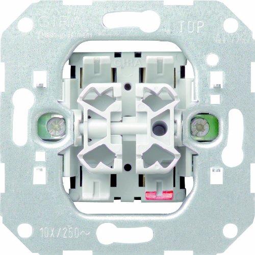Gira 012800 Module dInterrupteur Va-et-Vient Double 10 A//250 V  Couleur assortie