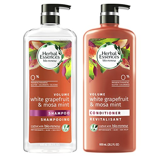Herbal Essences, Shampoo and Sulfate Free Conditioner Kit, BioRenew White Grapefruit & Mosa Mint Naked Volume, 20.2 fl oz, Kit