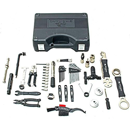 Bikehand Bike Bicycle Repair Tool Kit with Torque Wrench - Quality Tools Kit Set for Mountain Bike Road Bike Maintenance in a Neat Storage Case