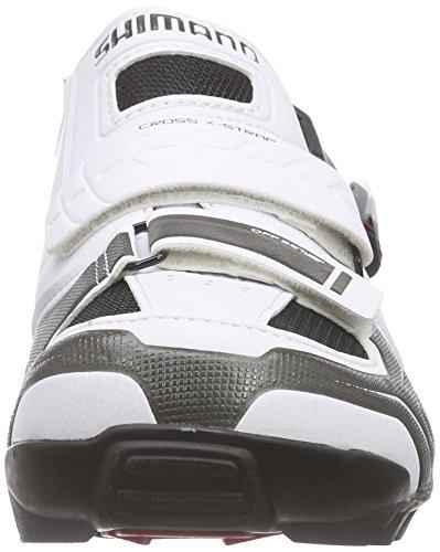 Shimano E-SHM089W, Chaussures de VTT Mixte Adulte Blanc Cassé (White)