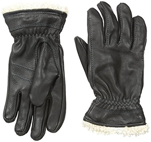 Hestra Women's Deerskin Primaloft Gloves Black 7 & Knit Cap Bundle by Hestra