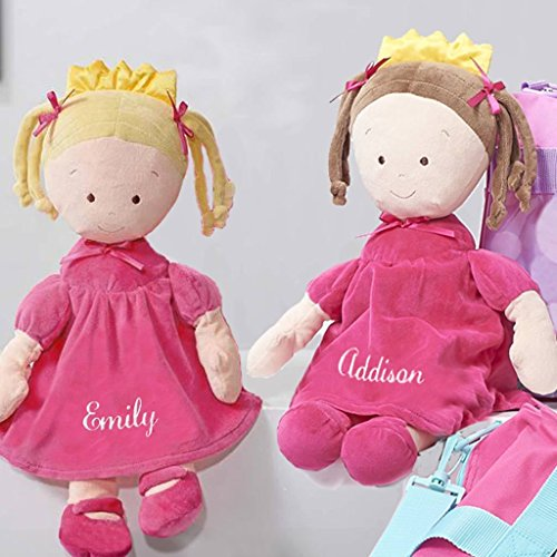 Cap Rag Doll - Personalized Dibsies Princess Doll - 16 Inch - Brunette