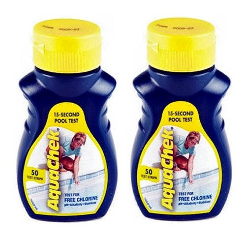 AquaChek Free Chlorine Test Strips (50 count) (2 Pack)